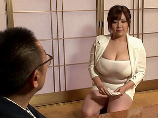 Irresistible Japanese spread out fro illustrious titties penetrated nigh doggy breath