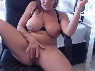 elder cougar anastazia fucks on the top of a chair with an increment of rubs clit