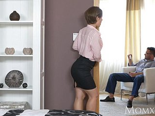 Ukranian housewife face slapping and dominating sub husband