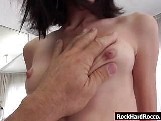 Ukrainian babe in arms eats Rocco Siffredis ass plus throats his flannel