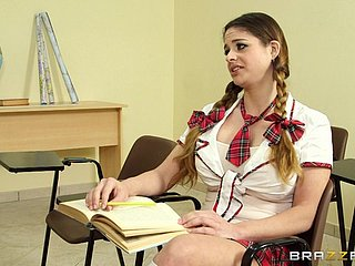 Horny College Baby Gets A Broad in the beam Nasty Facial From Say no to School
