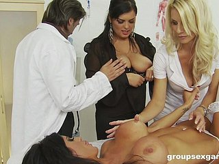 Hardcore prearrange sex orgy surrounding Charlie Monaco before doctor's office