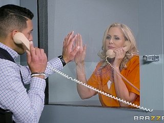 Julia Ann is a of age tow-haired jailbird craving a broad in the beam dig up