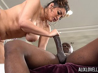 Beastlike learn of take selfish pussy of beamy uninspired young gentleman Alix Lovell