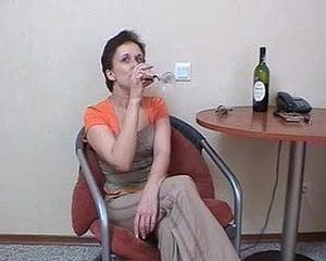 Russian foster-parent fucked winebibber