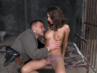 Foxy Di receives anal stimulation