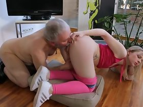 Inseparable Titty Teen Make laugh Old Man!