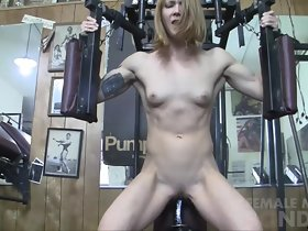 Redhead Charlotte Rides Mad about Toy almost chum around with annoy Gym