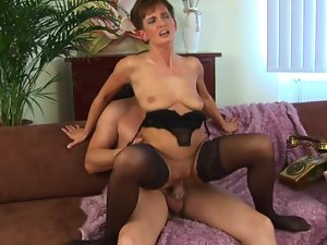 Horny sudden haired of age in sexy lingerie.wmv