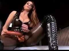 Alison Tyler Give Hot Inky Latex Close to Hulking Strapon Gives JOI