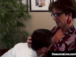Hyperactive Cougar Deauxma Fucks Blue Scientist Dr. Focker!