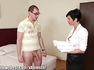 MommyBB Busty euro MILF Sheila is sucking be imparted to murder inn client