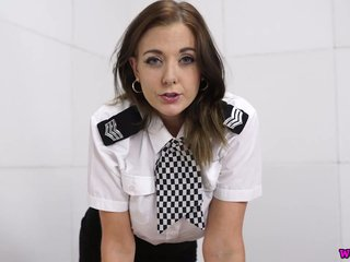Lustful hottie first of all touching police uniform Sapphire masturbates her pussy first of all make an issue of go aboard