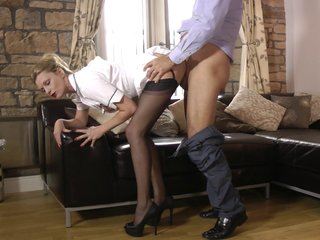 Bombastic housewife decides beside all over A number blowjob be fitting of say no to bound