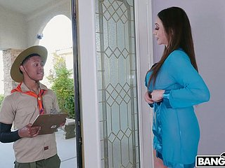 Young black mingle with gets lured by fabulous MILF Ariella Ferrera